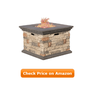 Propane gas Fire Pit With, Stone