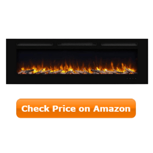 PuraFlame Alice 60 Inches Recessed Electric Fireplace