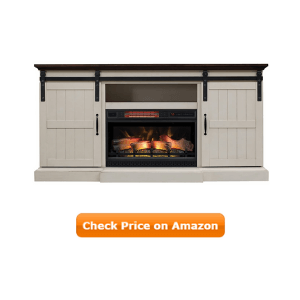 Hogan Electric Fireplace TV Stand with Logset