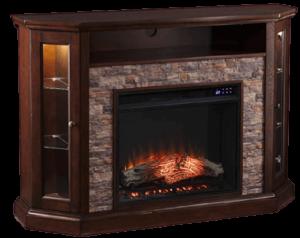 SEI Furniture Redden Corner Fireplace
