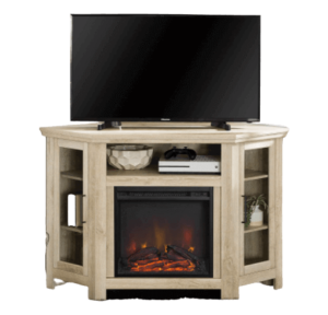 wood corner fireplace stand for tv